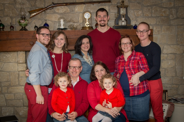 Pastor & Mrs. Bish with their 3 children and their spouses and 2 grand daughters.  They are expecting 2 more grandchildren this Spring.